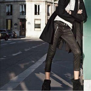 Isabel Marant pour H&M Black Waxed Moto Pants